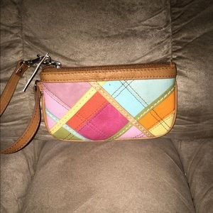 NWT LEATHER FOSSIL WRISTLET 6x4